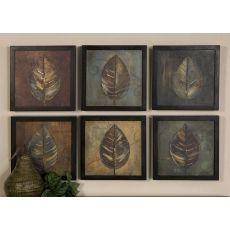 Uttermost New Leaf Framed Panel Set/6
