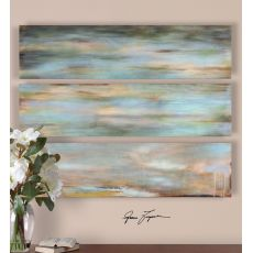Uttermost Horizon View Hand Painted Panel Set/3