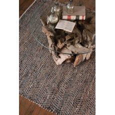 Uttermost Tobais 9 X 12 Rescued Leather & Hemp Rug