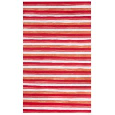 Liora Manne Visions II Painted Stripes Indoor/Outdoor Rug Red 5 ft. x 8 ft.