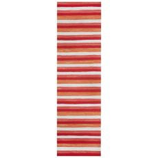 "Liora Manne Visions II Painted Stripes Indoor/Outdoor Rug Red 27""X8'"