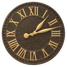 """Geneva 16"""" Indoor Outdoor Wall Clock, Coastal Green"""