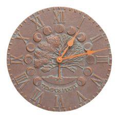 "Times And Seasons 12"" Indoor Outdoor Wall Clock, Copper Verdigris"
