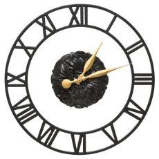 """Cambridge Floating Ring 21"""" Indoor Outdoor Wall Clock, Black"""