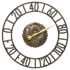 """Cambridge Floating Ring 21"""" Indoor Outdoor Wall Thermometer, French Bronze"""