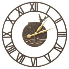 """Martini Floating Ring 21"""" Indoor Outdoor Wall Clock , French Bronze"""