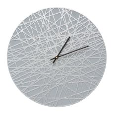 """Banded 16"""" Indoor Outdoor Wall Clock , Grey / Silver"""