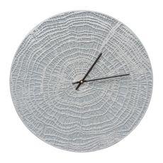"""End Grain 16"""" Indoor Outdoor Wall Clock , Grey / Silver"""