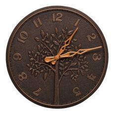 """Tree Of Life 16"""" Indoor Outdoor Wall Clock , Oil Rubbed Bronze"""
