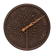 """Tree Of Life 16"""" Indoor Outdoor Wall Thermometer, Oil Rubbed Bronze"""