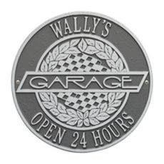 Victory Lane Garage Plaque, Pewter/Silver, Pewter/Silver