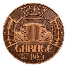 Vintage Car Garage Plaque, Antique Copper, Antique Copper