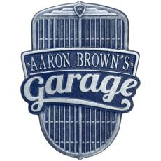 Car Grille Garage Plaque, Dark Blue/Silver, Dark Blue/Silver