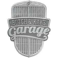 Car Grille Garage Plaque, Pewter/Silver, Pewter/Silver