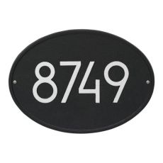 Hawthorne Modern Personalized Wall Plaque, Black/Silver