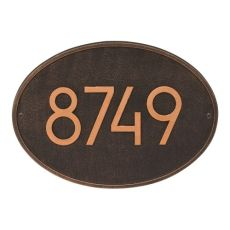 Hawthorne Modern Personalized Wall Plaque, Oil Rubbed Bronze