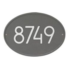 Hawthorne Modern Personalized Wall Plaque, Pewter/Silver