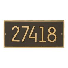 Hartford Modern Personalized Vertical Wall Plaque, Aged Bronze