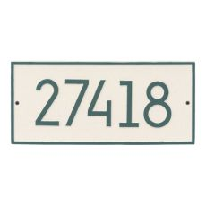 Hartford Modern Personalized Vertical Wall Plaque, Coastal Green