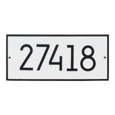 Hartford Modern Personalized Vertical Wall Plaque, White/Black