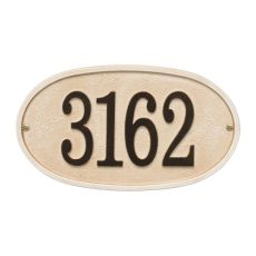 Stonework Oval House Numbers Plaque, Bronze Gold