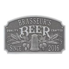 Personalized Quality Crafted Beer Arch Plaque, Black / Gold