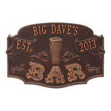Custom Established Bar Plaque, Oil Rubbed Bronze