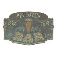Custom Established Bar Plaque, Pewter / Silver