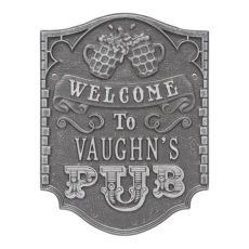 Personalized Pub Welcome Plaque, Black / Gold