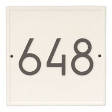 Square Modern Personalized Wall Plaque, Pewter/Silver