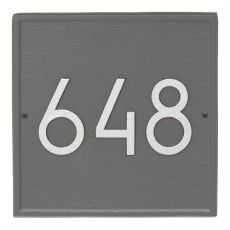 Square Modern Personalized Wall Plaque, Black/Silver