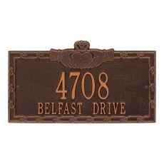 Claddagh Address Plaque, Pewter/Silver