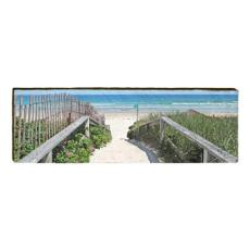 Beach Crossing Wood Wall Art