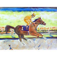 Racing Horse Gold Door Mat 18X26
