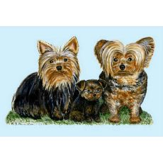 Yorkies Door Mat 18X26