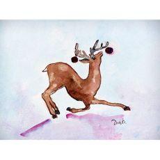 Dancing Deer Door Mat 18X26