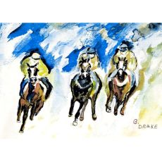 Three Racing Door Mat 18X26