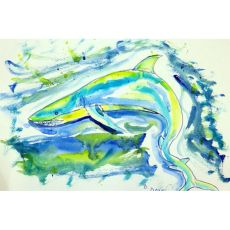 Green Shark Door Mat 18X26