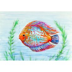 Orange Fish Door Mat 18X26