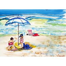 Children At The Beach Door Mat 30x50
