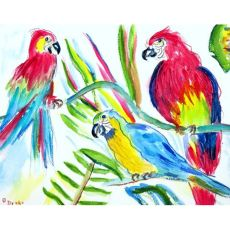 Three Parrots Door Mat 30x50