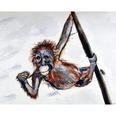 Betsy'S Monkey Door Mat 18X26