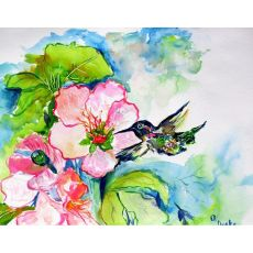 Hummingbird & Hibiscus Door Mat 18X26