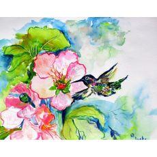 Hummingbird & Hibiscus Door Mat 30X50
