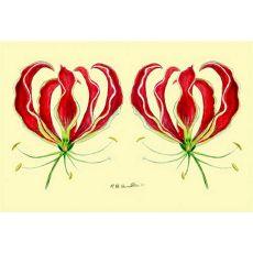 Red Lily Door Mat 18X26