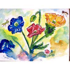 Bugs & Poppies Door Mat 18X26