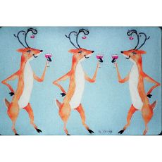 Drinking Deer Door Mat 30X50
