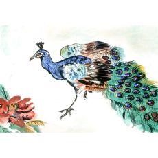 Betsy'S Peacock Door Mat 18X26