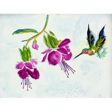 Purple Hummingbird Door Mat 30X50