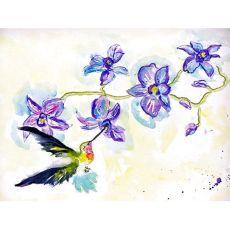 Hummingbird & Clematis Door Mat 18X26